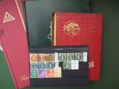 Small collections – Austria and Switzerland in 3 binders + 1 small glass case + 1 Pro Juventute small collection