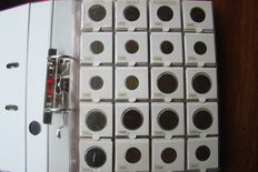 Italy - 5 Centesimi to  500 Lire , 1826-1999, Collection with 190 coins in Album