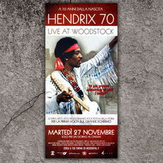 3 Original Film Poster Size 33X70 CM - Hendrix 70 Live A Woodstock - David Bowie Is - Led Zeppelin live From London 2007