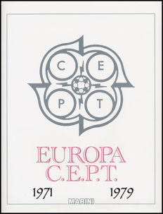 EUROPE CEPT 1971-1978 Complete Collection MNH ordinary Post mounted on Marini sheets.