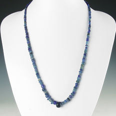 Necklace with Roman blue glass beads - 54 cm