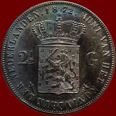 The Netherlands – 2½ guilders 1872 William III – silver