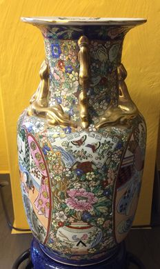 Chinese vase family rose - China - second half of the 20th century