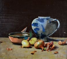 Unknown (19th century) Onions, a bowl and jug