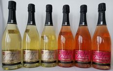 Champagne Michel Marcout - 3 x Blanc de Blancs + 3 Rose - 6 bottles (750ml)