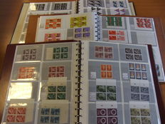 The Netherlands - Batch of primarily blocks of 4 in three binders