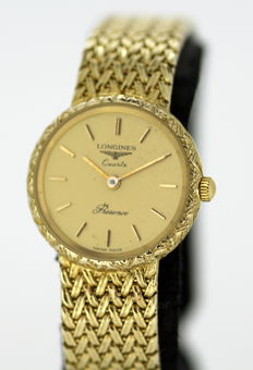 Longines Presence, 9K Solid Gold Ladies  Wristwatch