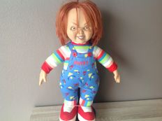 Childs Play - Sideshow - 15 inch - 40 cm plush doll/ figure - 1999 - Chucky no scars version