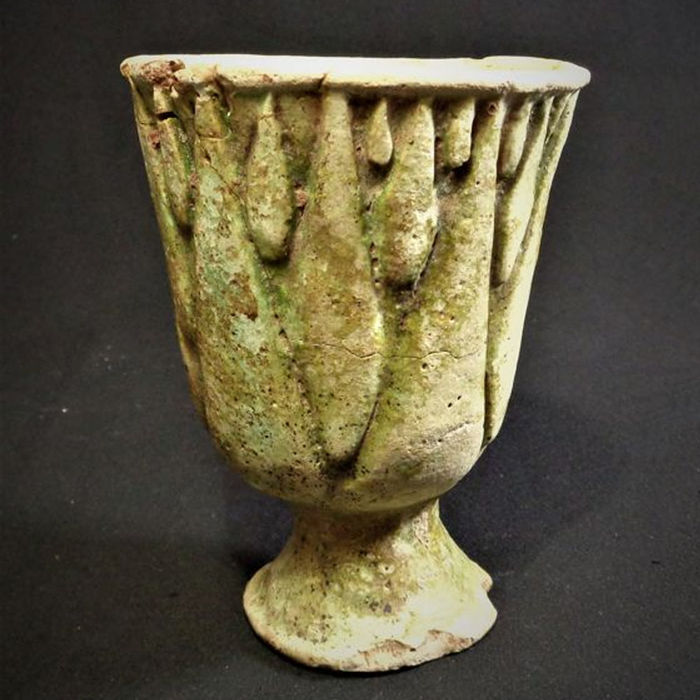 Ancient Egyptian Faience Lotiform chalice