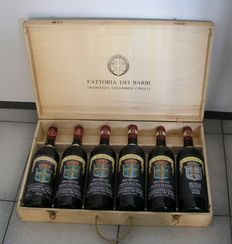 1981, 82, 85, 86, 87, 97 Brunello di Montalcino 'Colombini' Fattoria dei Barbi - 6 bottles 0,75l different years in wooden case