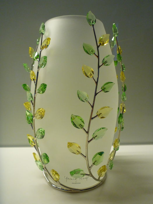Swarovski Vase Green Leaves Jonquil By Yasmine Hurel Catawiki