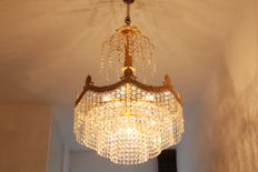 Chandelier, set with Swarovski crystals.