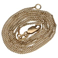 Delicate 14 kt yellow gold curb link necklace