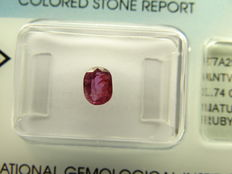 Ruby  – 0,74 ct