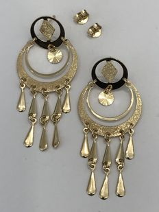 Earrings in 18 kt gold - 53 mm