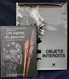 "2 Books of African art : ""Les signes du pouvoir"" a series limited at 3000 copies, in French language, and ""Objets interdits"", also in French."