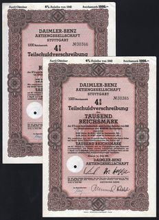 Germany (Stuttgart) - Daimler-Benz Aktiengesellschaft (Mercedes) - 1942 (Lot of 2)