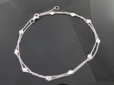 Diamond necklace with 10 diamonds, 0.50 ct in total *** no reserve ***