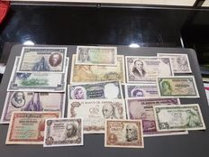 Spain - Lot of 16 different banknotes