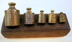 Block Dutch copper weights - end of the 19th century