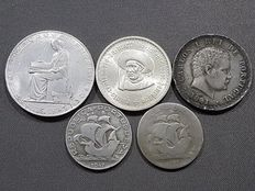 Portugal – Lot of 5 silver coins – From 1891 to 1960
