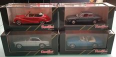 Detail Cars - Scale 1/43 - Lot with 4 models: BMW 3000 CS Coupé, BMW 503 Cabrio, BMW 503 Coupé & BMW 502 Cabrio