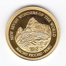 "Solomon Islands – 10 dollars 2007 ""Machu Picchu Peru"" – 1/25 oz of Gold"