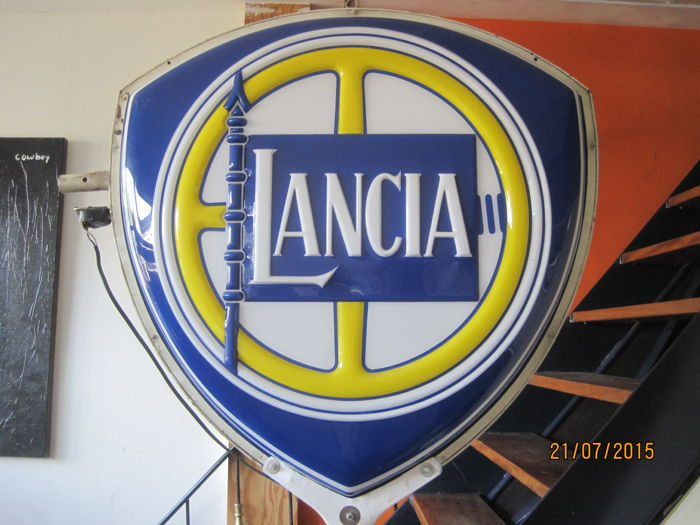 Lancia - double-sided neon sign - commercial sign - sign 95 cm - total height 2.7 m