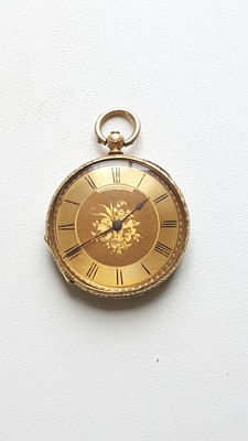 Pocket Watch. Key wind. Case Stamped and Signed 'Lobjois & Fils'. Late 1800's