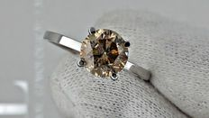 1.60 ct round diamond ring made of 14 kt white gold *** no reserve price ***