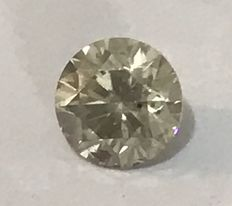 0.70ct Round brilliant -cut diamond natural J SI3