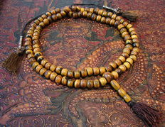 Special prayer mala made of horn - Tibet/Nepal - 21st century