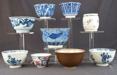 Collection of bowls and cups - China - 18th and 19th century
