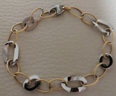Bracelet in 18 kt (750/1,000) yellow and white gold