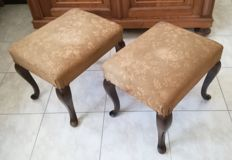 Two foot rests - stools - Italy, first half of the 20th century