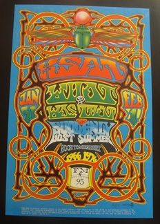 Original promotional poster Radio Station KSAN in San Francisco 10th Anniversary 1976