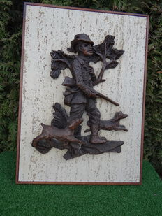 Frame with 3d hunting scene 35 x 50 cm