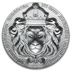 United States - 3D Lion Silver Coin by Scottsdale Mint - Stackable - 100 g - 3.215 oz - 999 Silver