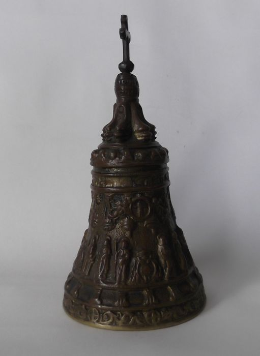 Richly decorated bronze table bell with cross catawiki for Nfpa 72 99 table 7 3 1