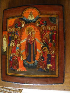 Very beautiful Russian icon of the 20th century