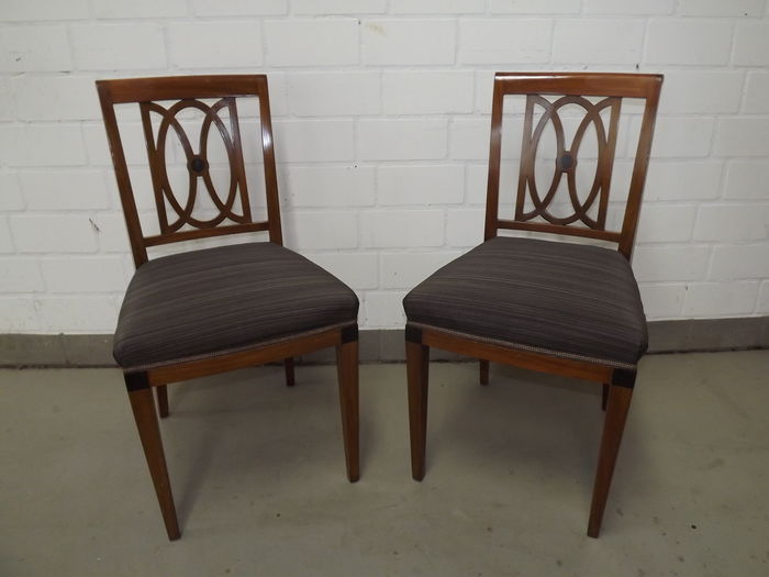 A pair of Biedermeier chairs, mahogany, Germany, ca 1830