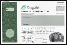 USA - Seagate Technology, Inc. – Specimen (formerly Shugart Technology)