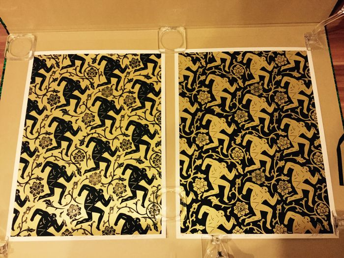 Shepard Fairey (OBEY) and Cleon Peterson - Pattern of Corruption ...