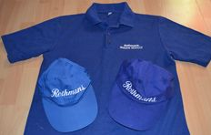 Rothmans Williams Renault > Crew Polo Shirt & 2 Rothmans Sponsor Caps ( 1994+1995) Team Only !