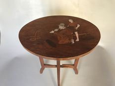 Wooden side table - India - 2nd half 20th century.