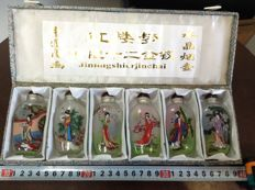 Collection painted snuff bottles - China - second half 20th century