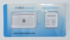 0.19 ct brilliant cut diamond, W(H), SI1