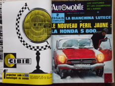 "L' Automobile - 12 ""L'Automobile"" magazines joined and bound - 23.5x31.5 cm - 1966-1967"