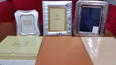 Three photo frames in silver 925/1000, late 20th century