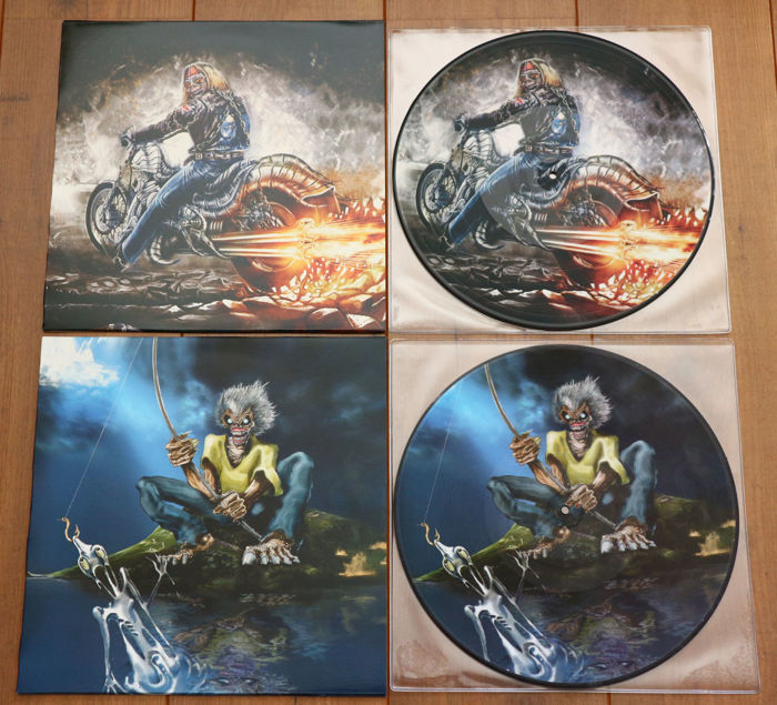 Iron Maiden: lot of 2 limited edition picture disc lp's: Revelations in Germany & Powerslave in Madrid/ Both special editions for Iron Maiden Fan Club Australia